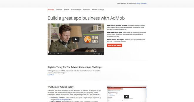 AdMob: the best mobile ad network for Google ads