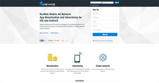 RevMob among the best mobile ad networks