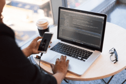 custom web app developers at work